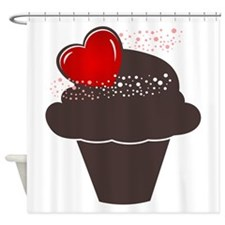Love Cupcake Shower Curtain