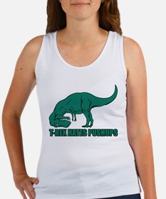 T-Rex Hates Pushups Women's Tank Top