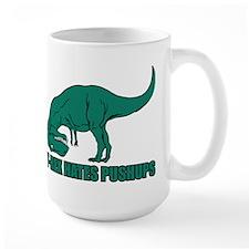 T-Rex Hates Pushups Ceramic Mugs