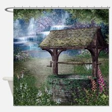 Wishing Well Waterfall Shower Curtain