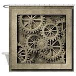 Steampunk Cogwheels Shower Curtain
