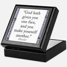 God Hath Given You One Face Keepsake Box