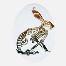 Industrial Hare Ornament (Oval)