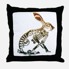 Industrial Hare Throw Pillow