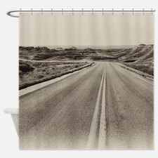 Funny Driving sheep Shower Curtain