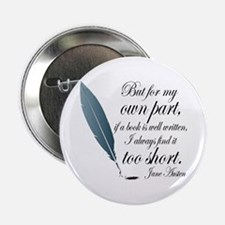 "Jane Austen Book Quote 2.25"" Button"