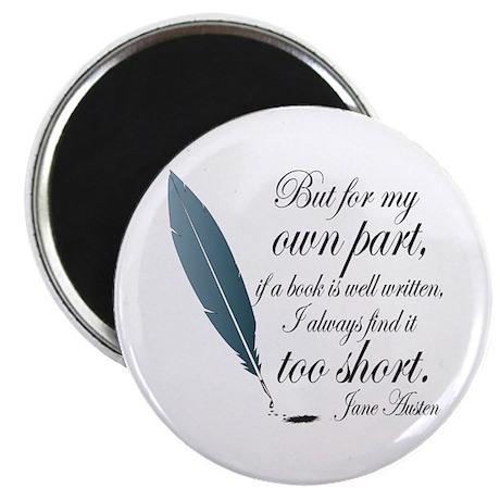 Jane Austen Book Quote Magnet