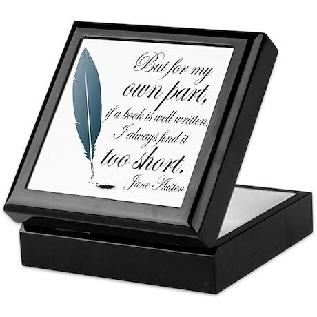 Jane Austen Book Quote Keepsake Box