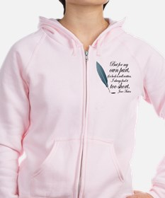 Jane Austen Book Quote Zip Hoodie