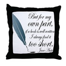 Jane Austen Book Quote Throw Pillow