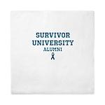Teal Survivor University Queen Duvet