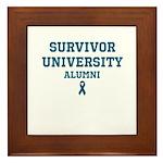 Teal Survivor University Framed Tile
