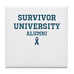 Teal Survivor University Tile Coaster