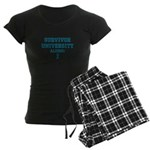 Teal Survivor University Women's Dark Pajamas