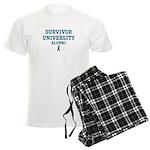 Teal Survivor University Men's Light Pajamas