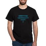 Teal Survivor University Dark T-Shirt