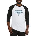 Teal Survivor University Baseball Jersey