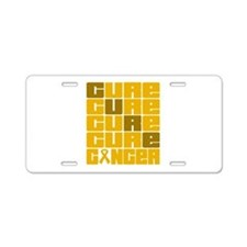CURE Appendix Cancer Collage Aluminum License Plat
