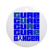 CURE Anal Cancer Collage Ornament (Round)