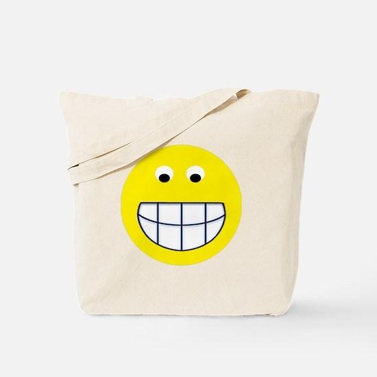 Big Grin Smiley Tote Bag