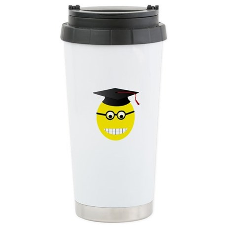 COLLEGE SMILEY Stainless Steel Travel Mug