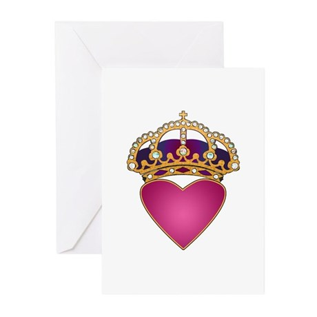 Crowned Heart Greeting Cards (Pk of 10)