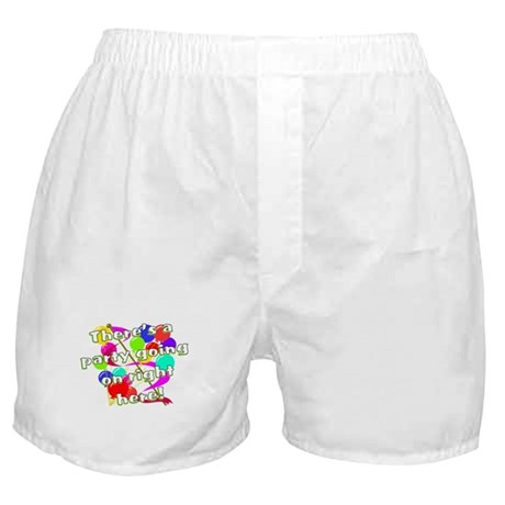 Party Going On Balloon Birthday Boxer Shorts