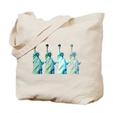 Statue of liberty Canvas Bags