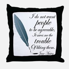 Austen Agreeable People Throw Pillow