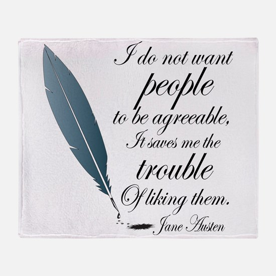 Austen Agreeable People Throw Blanket