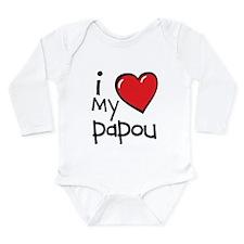 I Love My Papou Long Sleeve Infant Bodysuit