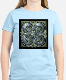 Silver & Green Celtic Tapestry T-Shirt
