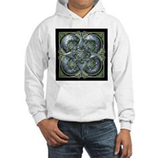 Silver & Green Celtic Tapestry Hoodie