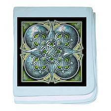 Silver & Green Celtic Tapestry baby blanket