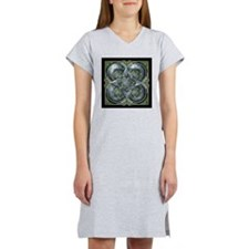 Silver & Green Celtic Tapestry Women's Nightshirt