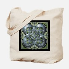 Silver & Green Celtic Tapestry Tote Bag