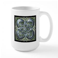Silver & Green Celtic Tapestry Mug