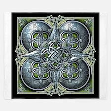 Silver & Green Celtic Tapestry King Duvet
