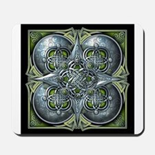 Silver & Green Celtic Tapestry Mousepad