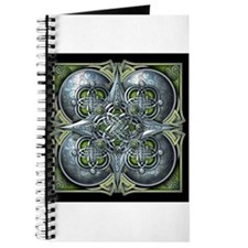Silver & Green Celtic Tapestry Journal