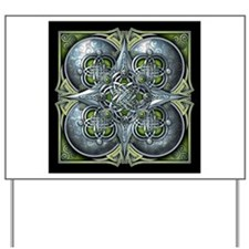Silver & Green Celtic Tapestry Yard Sign