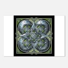 Silver & Green Celtic Tapestry Postcards (Package