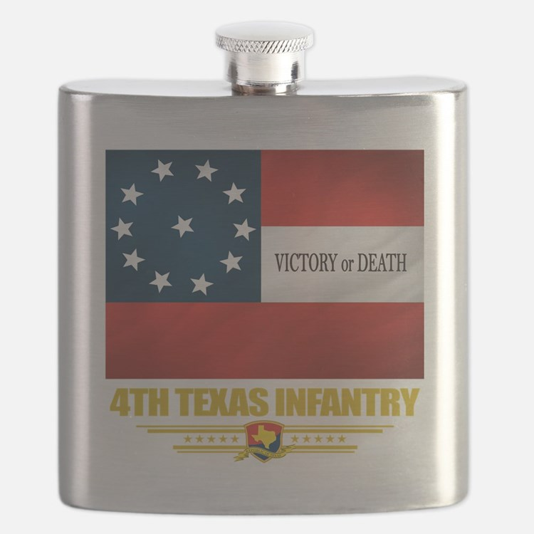 4th Texas Infantry (flag 10).png Flask