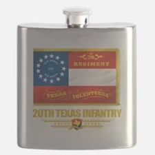 20th Texas Infantry (flag 10).png Flask