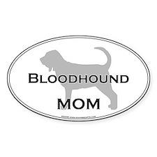Bloodhound MOM Oval Bumper Stickers