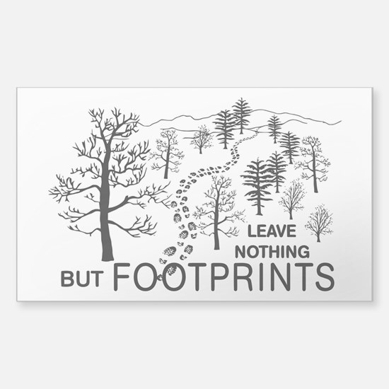 Leave Nothing but Footprints BLK Bumper Stickers