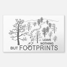 Leave Nothing but Footprints BLK Stickers