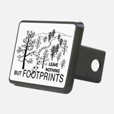Leave Nothing but Footprints BLK Hitch Cover