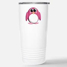 Adorable Pink Penguin Travel Mug