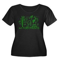 Leave Nothing but Footprints Green T